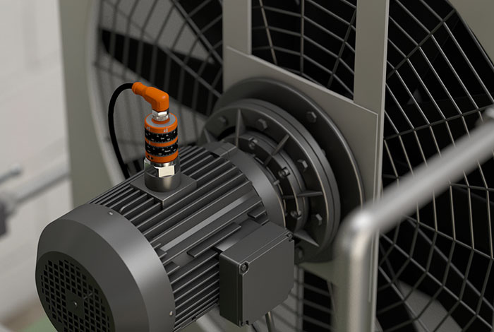 Vibration monitoring on oil-air coolers