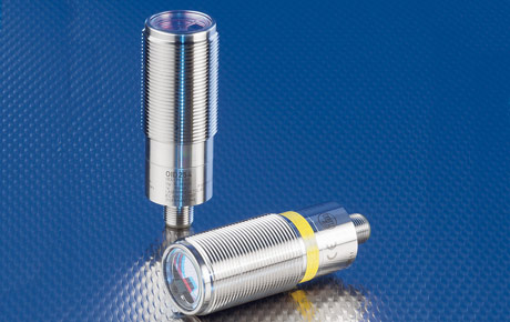Robust OID Series stainless steel photoelectric sensor with PMD technology