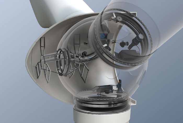 Pitch Drive Electric In Wind Turbine With Direct Drive