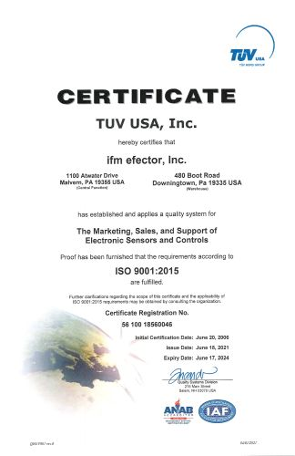 ISO 9001:2015 Certification Document