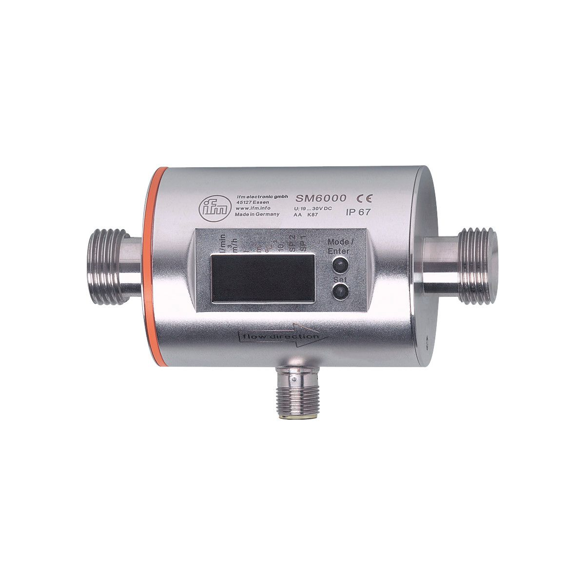 6.6 gpm IFM SM6004 Electronic Magnetic Flow Meter 25 L//min