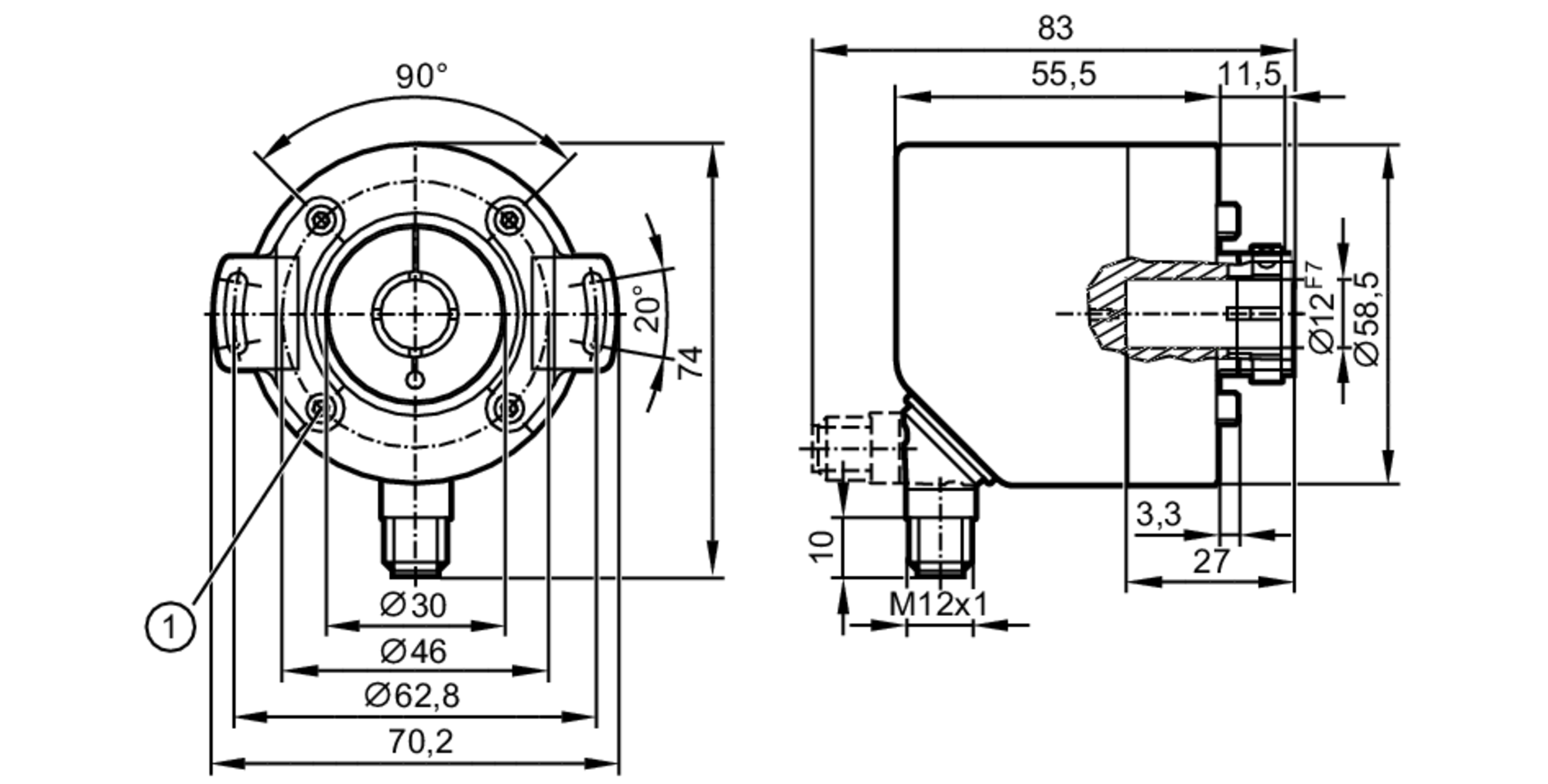 ro3101 - incremental encoder with hollow shaft