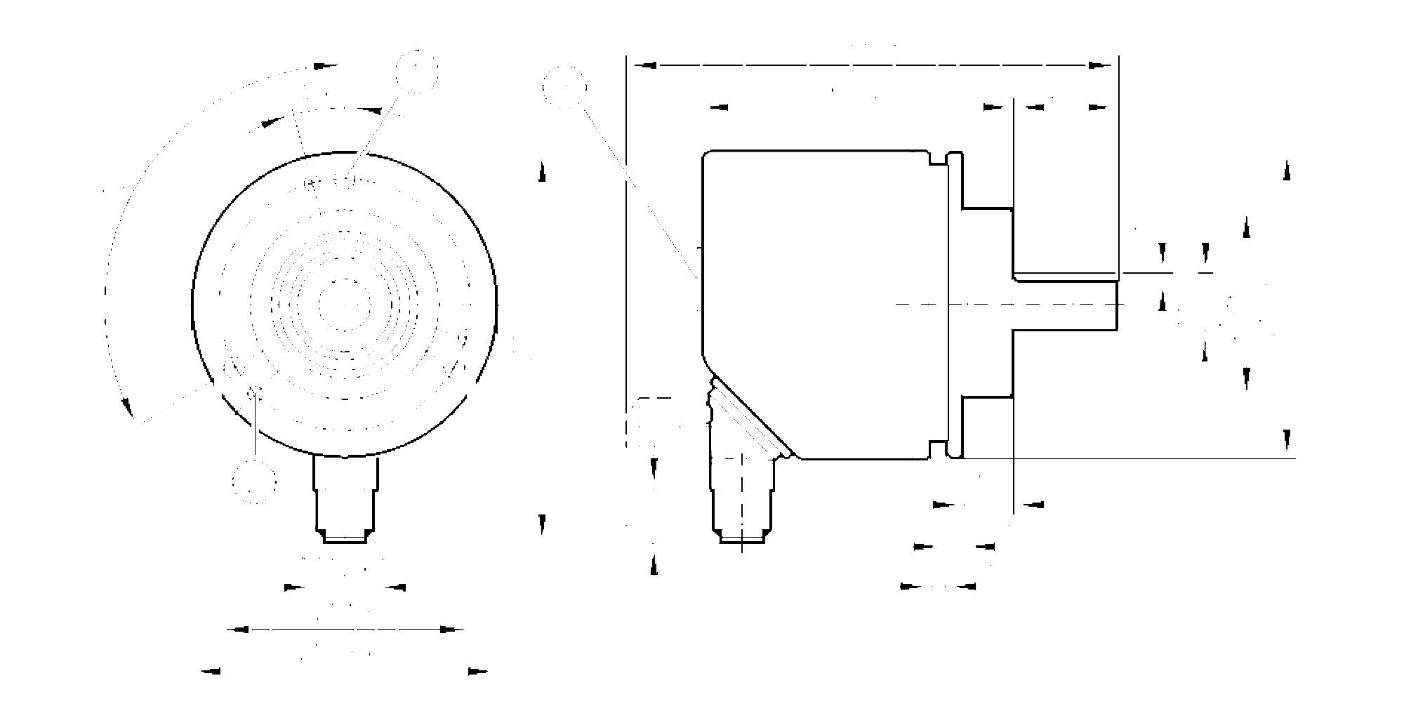 incremental encoder performance line  scale drawing