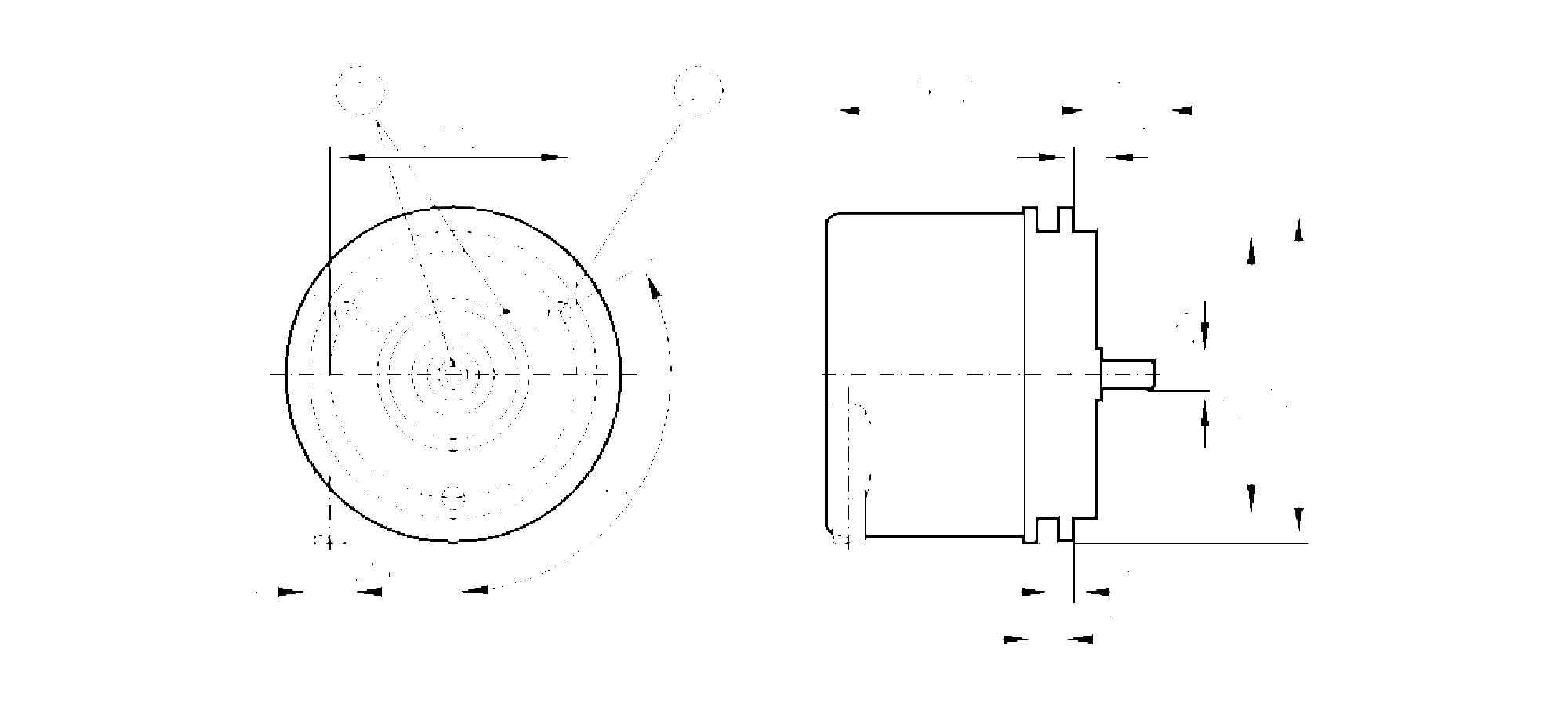 ru6003 - incremental encoder with solid shaft