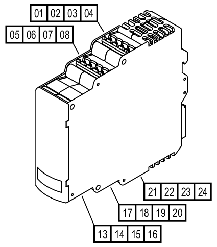 dd0203 evaluation unit for speed monitoring ifm electronic 80 VDC Power Supplies connection