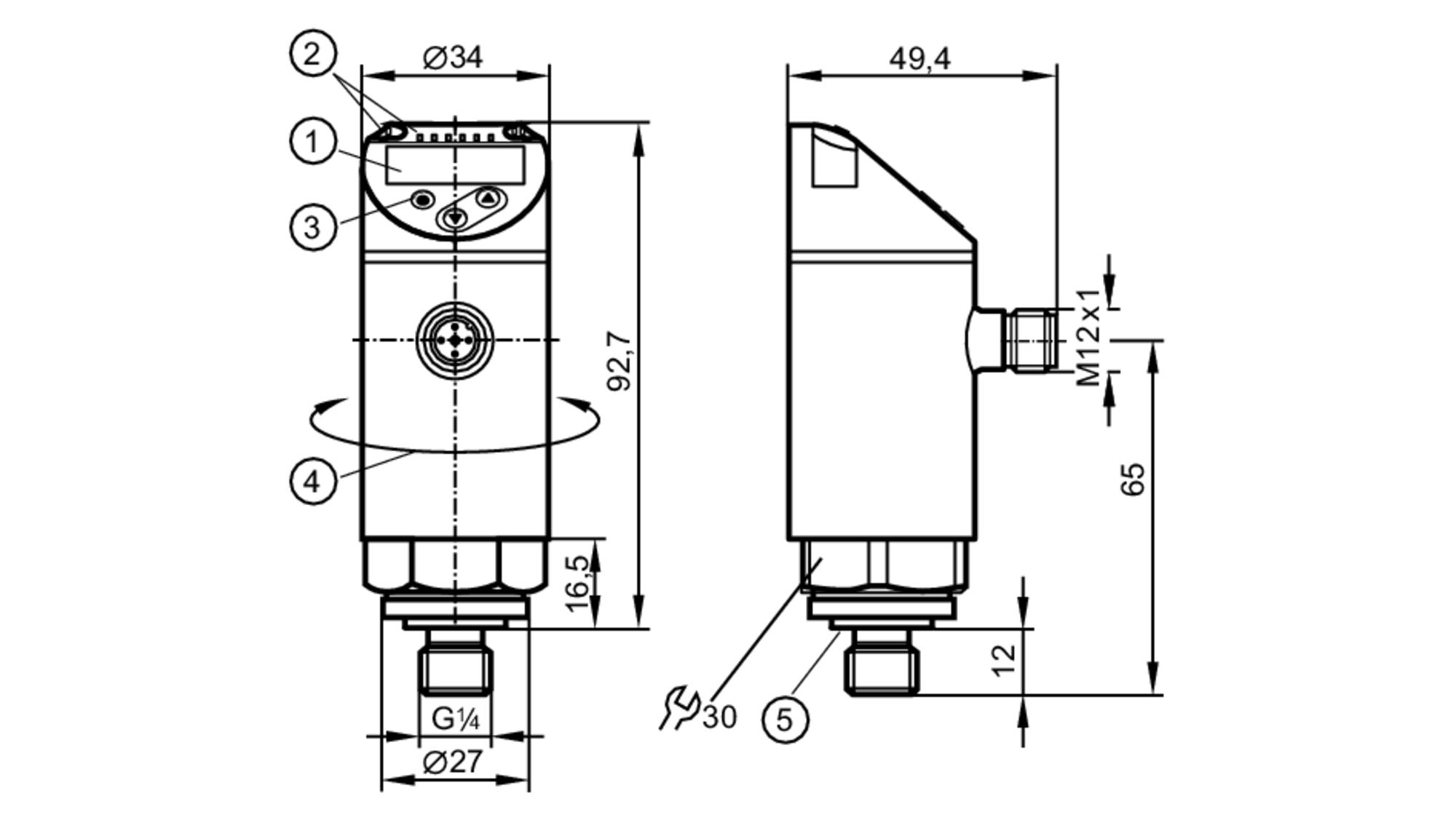 pn7594 - pressure sensor with display