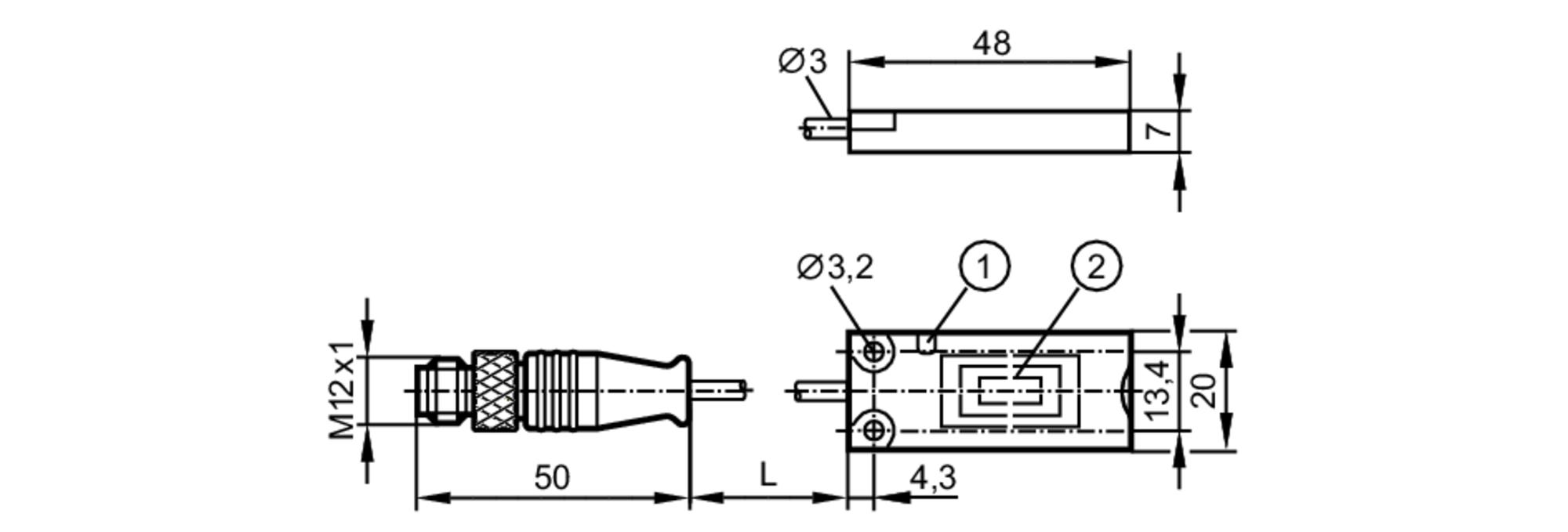 Dti515 Rfid Read Write Head Hf Ifm Electronic