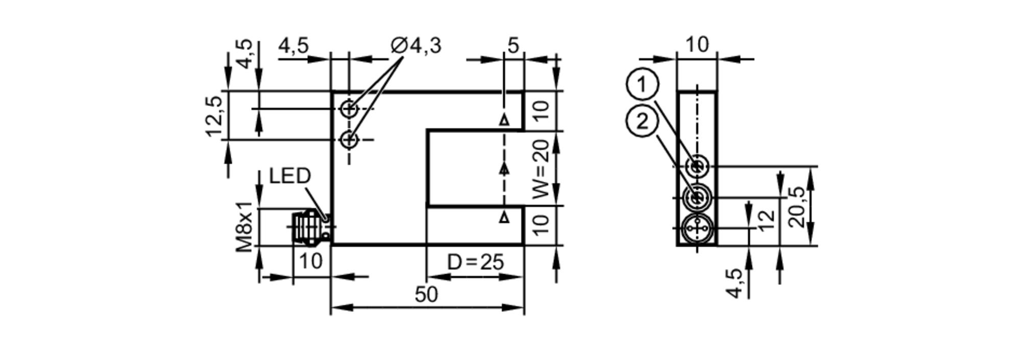 opu201 - photoelectric fork sensor