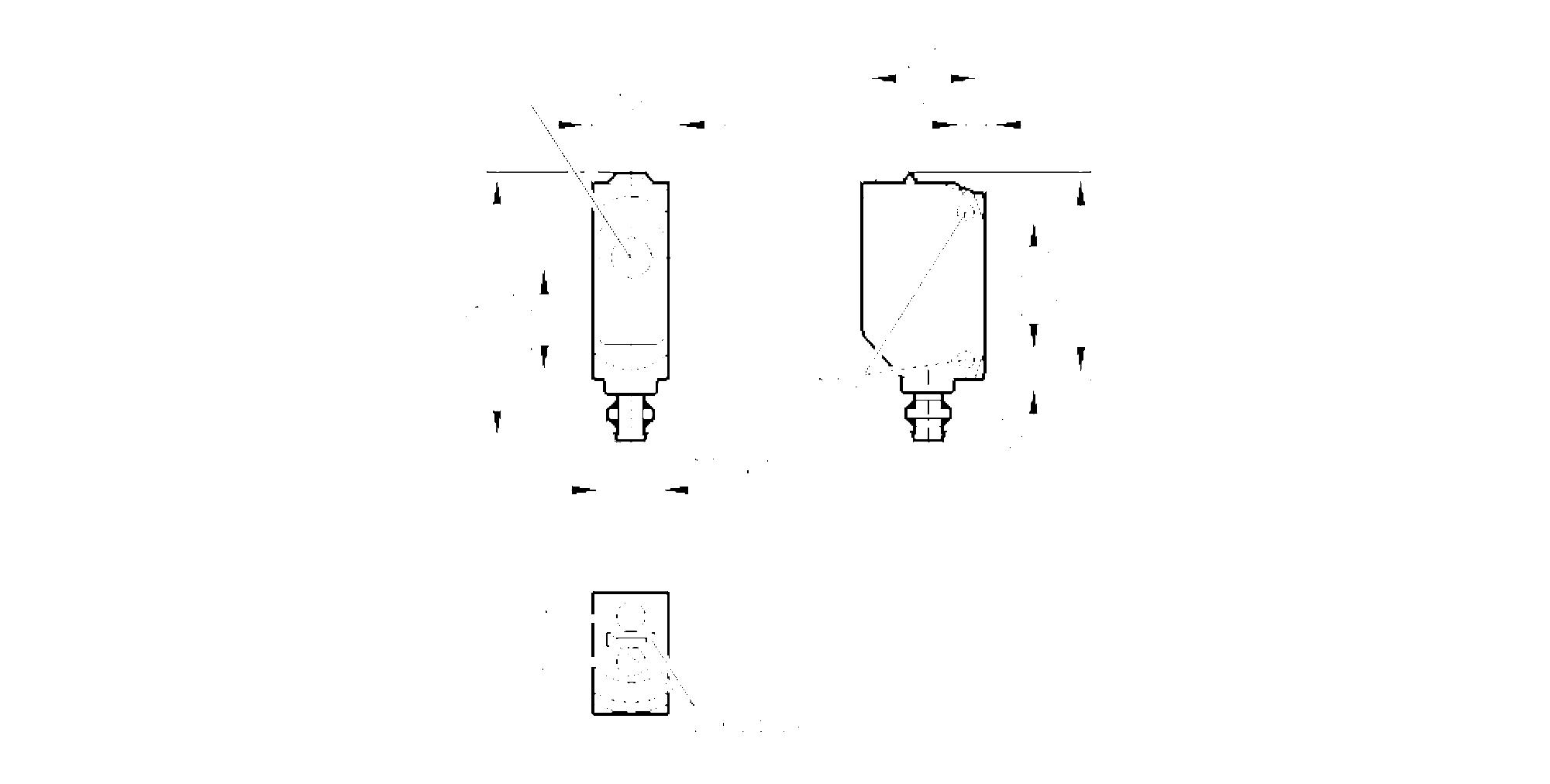o6e702 - through-beam sensor receiver
