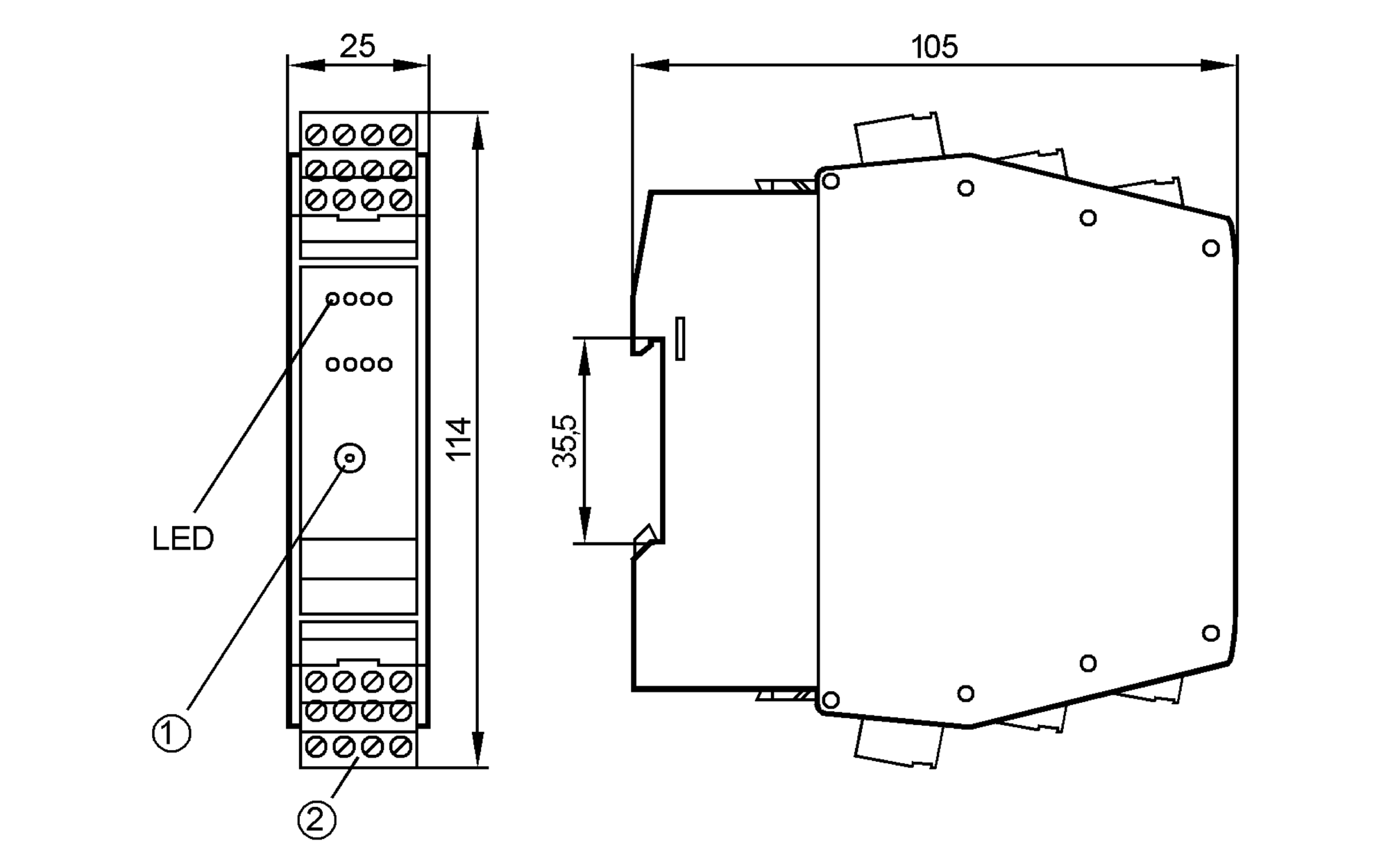 ac2220 - as-interface control cabinet module