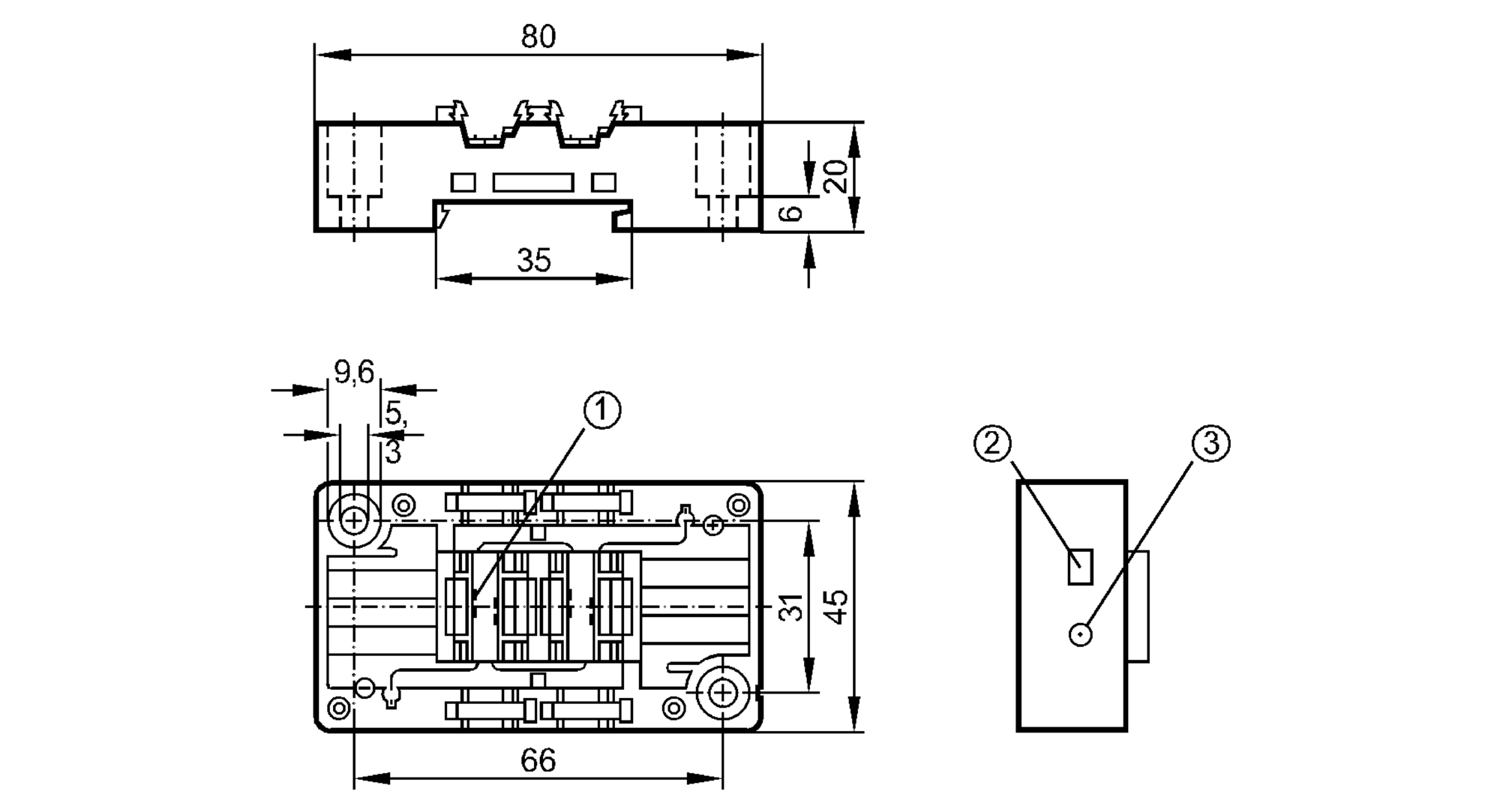 ac5010 - lower part for as-interface module