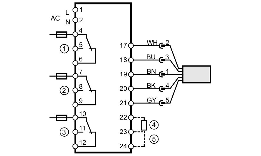 Leistung Relais Modul mit  I7X5 Din Schienen Montage AC // DC 12//24V Steuerung