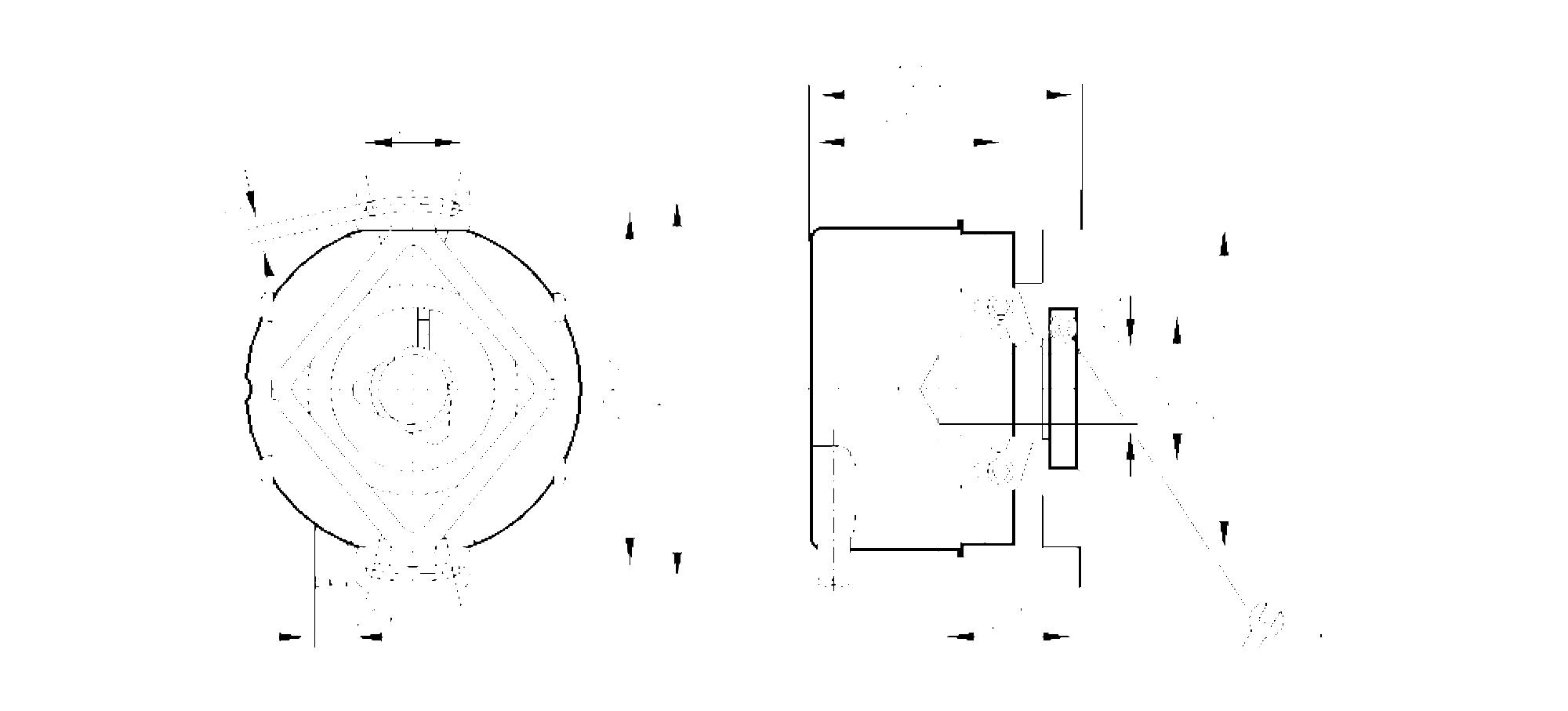 ro6345 - incremental encoder with hollow shaft
