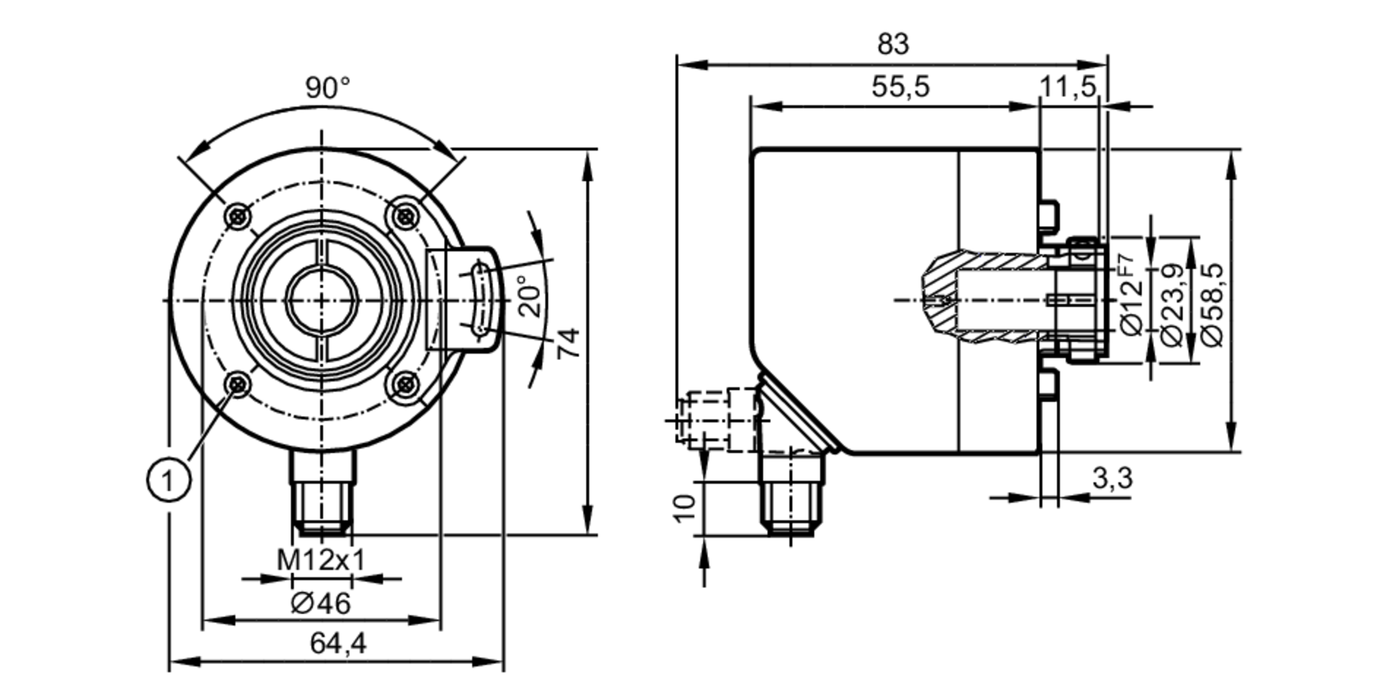 ro3100 - incremental encoder with hollow shaft