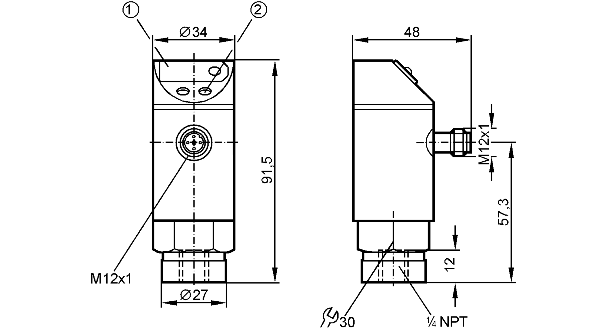 IFM Efector PN3224 Pressure Sensor Switch